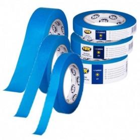 Afplakband Masking tape UV BLAUW 19 mm x 50 mtr
