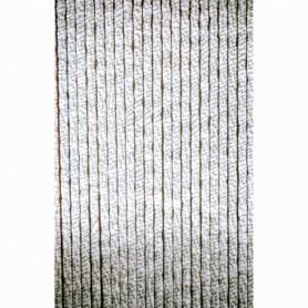 Vliegen Gordijn chenille grijs/wit 120x230 cm