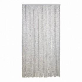 Vliegen Gordijn chenille wit/grijs 100 x 230 cm