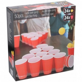 Bier-pong 50pcs w/tray PP