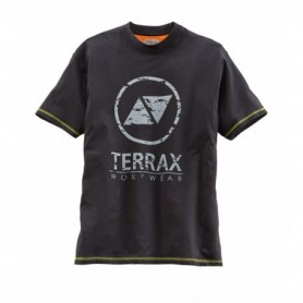 t-shirt Terrax workwear 1048-schwarz/limette L