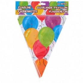 Feest Vlaggenlijn 3 6 meter ballonnen print