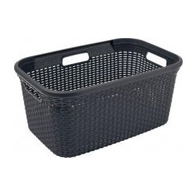 wasmand Curver Style antraciet 45 liter