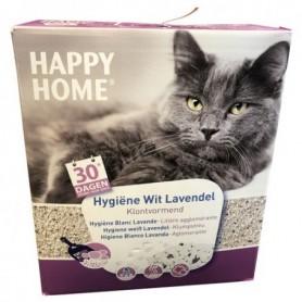 Kattenbakvulling Happy home Hygiëne wit lavendel 10 liter