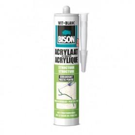 Kit Bison Acrylaatkit Structuur Wit 310 ml Koker