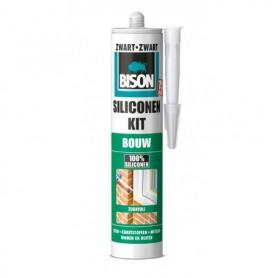 Kit Bison Siliconenkit Bouw Zwart 310 ml