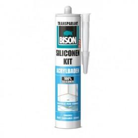 Kit Bison Siliconenkit Acrylbaden Transparant 310 ml