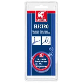 Soldeer Griffon Electro draadsoldeer tin/koper Blauw 1,5 mm 50 gram