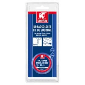 Soldeer Griffon Draadsoldeer tin/koper 97/3 spoel Blauw 3 mm 100 gram