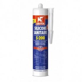 kit griffon Silicone Sanitaire S200 Transparant 300ML