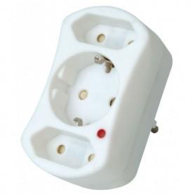 Stekker Verloopstekker overspanningsbev Knopp Safetronic Wit 1v RA 2v