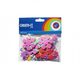 Knutsel Create-It Foam bloemen 70 stuks
