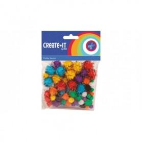 Create-It Pompoms glitter 78 stuks