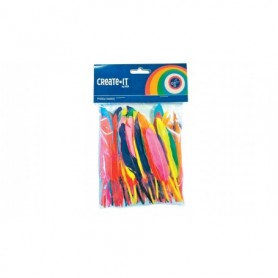 Knutsel Create-It veren gekleurd 100 stuks