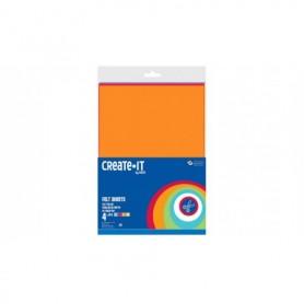 Knutsel Create-It vilt A4 4 vel assorti