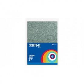 Knutsel Create-It Foam glitter 4 vel A4