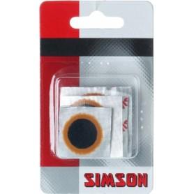 Fiets Bandreparatie pleisters Simson  assorti. 22mm/25mm/33mm/ovaal  + schuurpapier