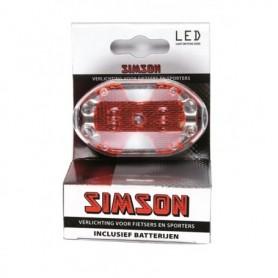 FIETS verlichting Simson batterij LED achterlicht rood incl. batterijen