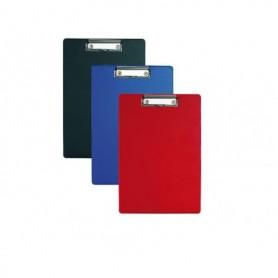 Klembord Alco karton met kunststof omtrokken A4 blauw