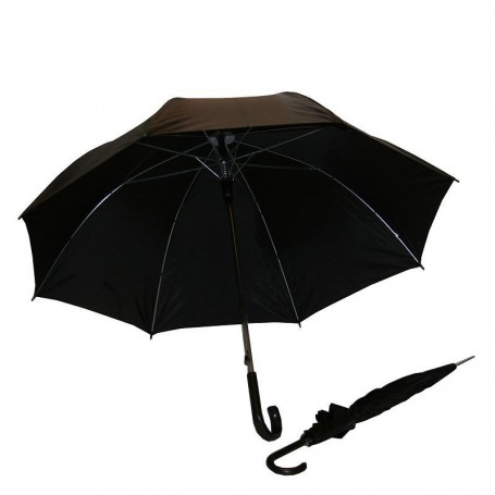 Paraplu zwart 125cm 8 banen