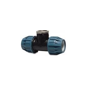 Tileen blauw T-stuk (90) BI 16 mm x 1/2