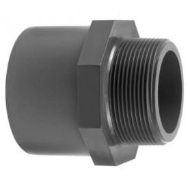 PVC Lijmmof x Buitendraad 25/32 X 1/2