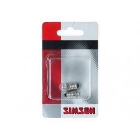 Fietsartikel Fietslampje Achter 2 stuks Simson 6 Volt 0,6 Watt