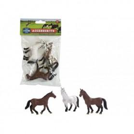 Speelgoed Dutch farm Serie paard 3 st