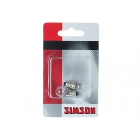 Fietsartikel Simson Fietslampje Voorlamp 6 Volt 2,4 Watt 2 st