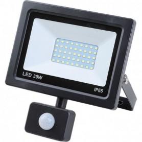 Led-floodlight platte 30 watt smd + sensor